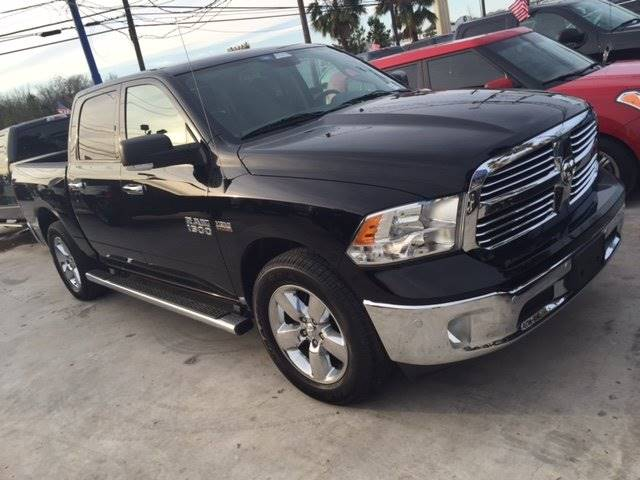 2014 RAM RAM PICKUP 1500 SLT 4X2 4DR CREW CAB 55 FT SB black 100 down delivers wac  we ship na