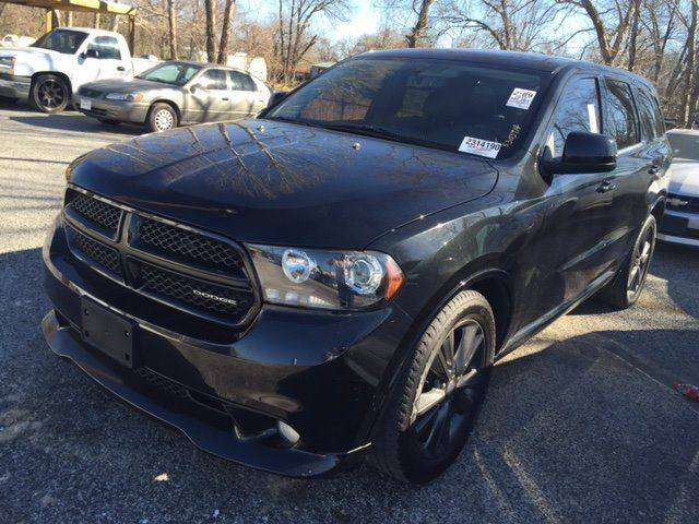 2012 DODGE DURANGO RT 4DR SUV black fully loaded durango rt  black on black with black rimsmu