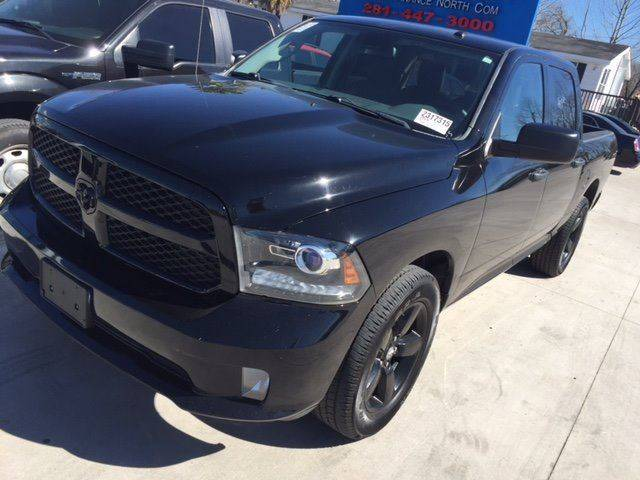 2014 RAM RAM PICKUP 1500 EXPRESS black 4x4  blacked out national shippinglow payments and down p