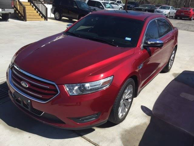 2013 FORD TAURUS LIMITED 4DR SEDAN red leather and sunroof  loaded low payment and down payment