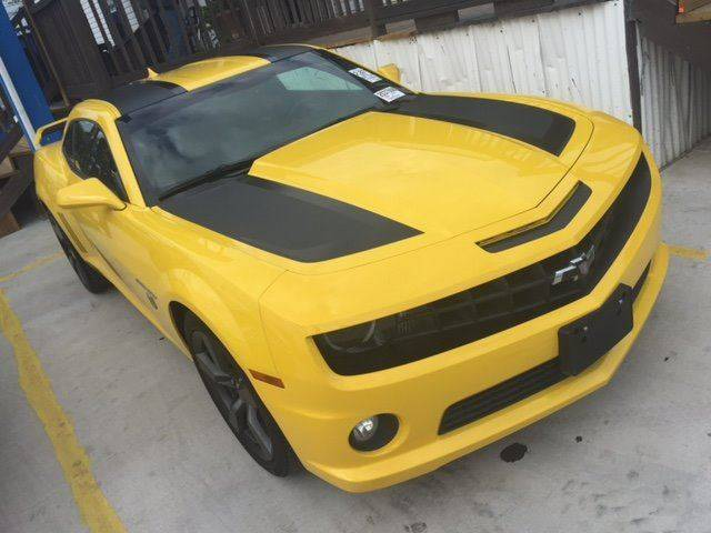 2012 CHEVROLET CAMARO SS 2DR COUPE W2SS yellow bumble bee   transformers package exhaust - dual