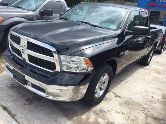 2014 RAM RAM PICKUP 1500 SLT 4X2 4DR QUAD CAB 63 FT SB black 249 cash down approvals wac pickup