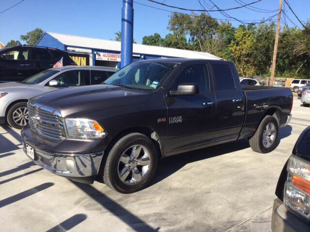 2014 RAM RAM PICKUP 1500 BIG HORN 4X2 4DR QUAD CAB 63 FT gray we are putting dreams into driveway