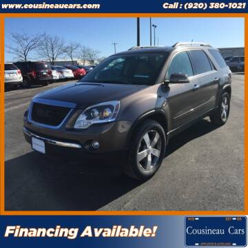 2012 GMC Acadia for sale at CousineauCars.com in Appleton WI