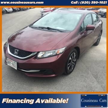 2015 Honda Civic for sale at CousineauCars.com in Appleton WI