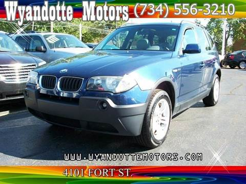 2004 BMW X3 for sale at Wyandotte Motors in Wyandotte MI