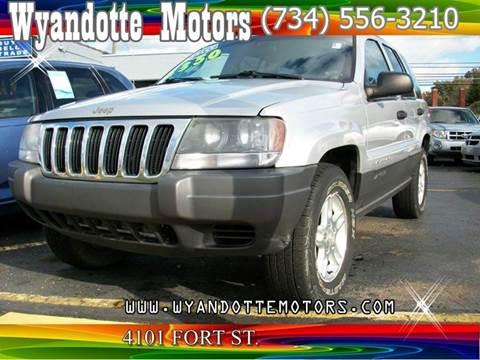 2002 Jeep Grand Cherokee for sale at Wyandotte Motors in Wyandotte MI