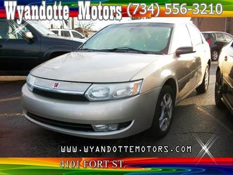 2004 Saturn Ion for sale at Wyandotte Motors in Wyandotte MI