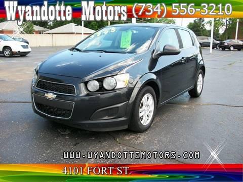 2013 Chevrolet Sonic for sale at Wyandotte Motors in Wyandotte MI