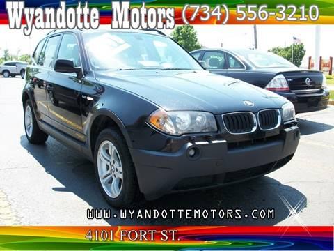 2005 BMW X3 for sale at Wyandotte Motors in Wyandotte MI