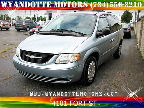 2002 Chrysler Town and Country for sale at Wyandotte Motors in Wyandotte MI