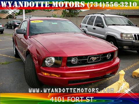 2007 Ford Mustang for sale at Wyandotte Motors in Wyandotte MI