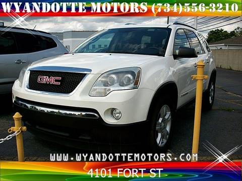 2008 GMC Acadia for sale at Wyandotte Motors in Wyandotte MI