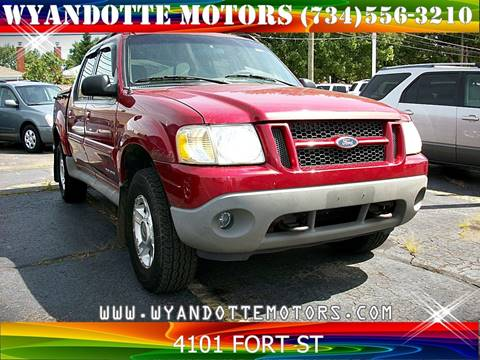 2001 Ford Explorer Sport Trac for sale at Wyandotte Motors in Wyandotte MI