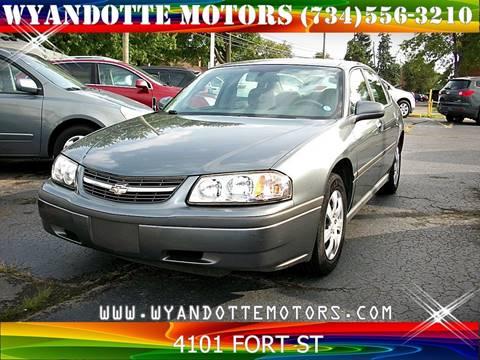 2005 Chevrolet Impala for sale at Wyandotte Motors in Wyandotte MI