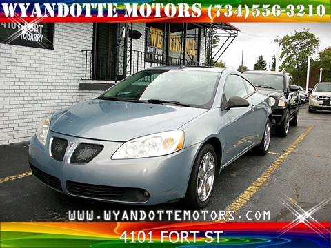 2009 Pontiac G6 for sale at Wyandotte Motors in Wyandotte MI