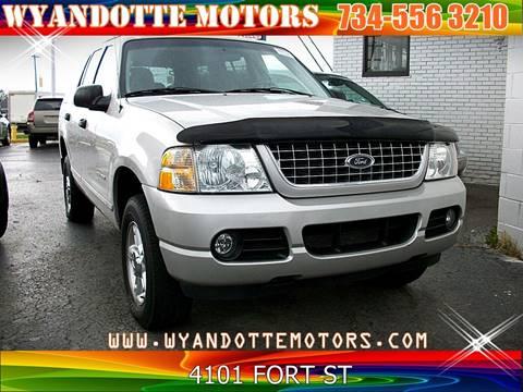 2004 Ford Explorer for sale at Wyandotte Motors in Wyandotte MI