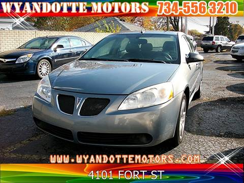 2009 Pontiac G6 for sale in Wyandotte, MI