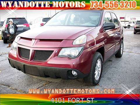 2003 Pontiac Aztek for sale at Wyandotte Motors in Wyandotte MI