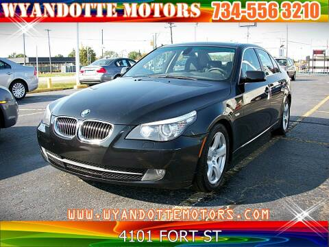 2008 BMW 5 Series for sale at Wyandotte Motors in Wyandotte MI