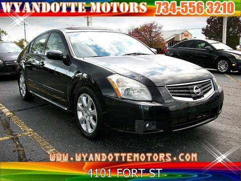 2008 Nissan Maxima for sale at Wyandotte Motors in Wyandotte MI