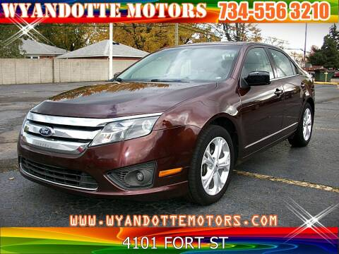 2012 Ford Fusion for sale at Wyandotte Motors in Wyandotte MI