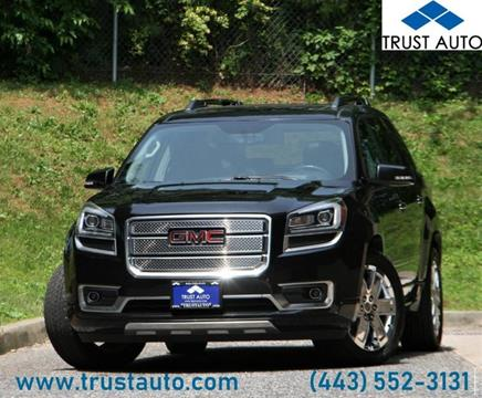 2013 GMC Acadia for sale in Sykesville, MD