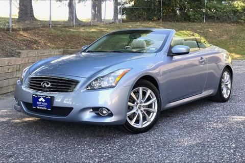 2011 Infiniti G37 Convertible for sale in Sykesville, MD
