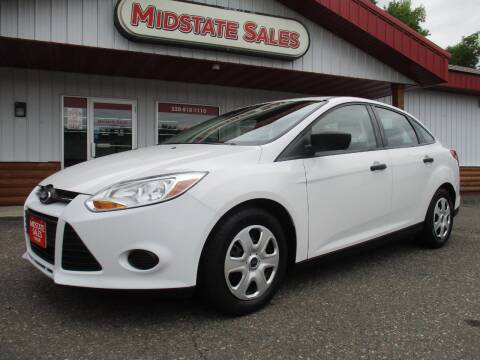 2012 Ford Focus for sale at Midstate Sales in Foley MN