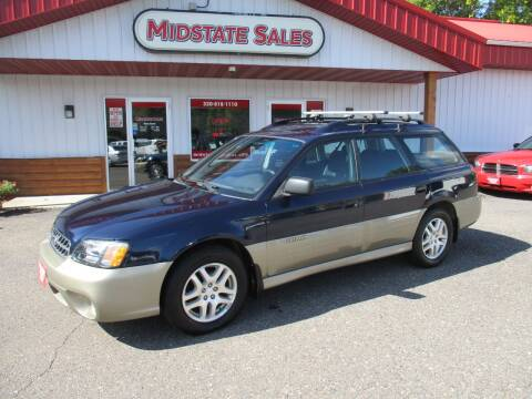 2003 Subaru Outback for sale at Midstate Sales in Foley MN