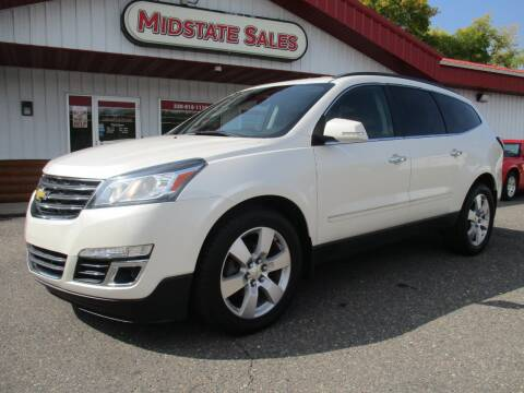 2015 Chevrolet Traverse for sale at Midstate Sales in Foley MN