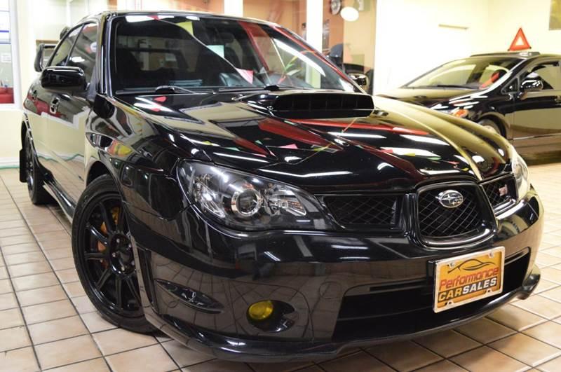 2007 Subaru Impreza Wrx Sti Awd 4dr Sedan Wgold Wheels In River