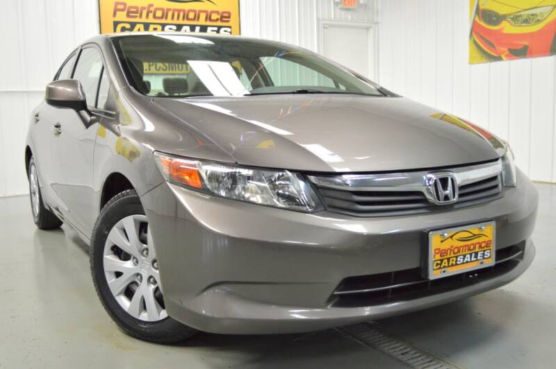 2012 Honda Civic for sale at Performance car sales in Joliet IL