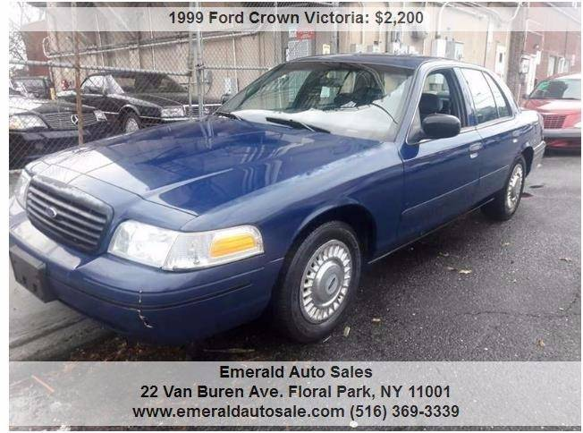 1999 ford crown victoria police interceptor axle 4dr sedan in floral park ny emerald. Black Bedroom Furniture Sets. Home Design Ideas
