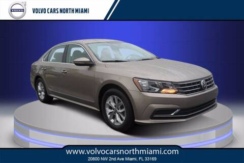 2017 Volkswagen Passat for sale at Volvo Cars North Miami in Miami FL