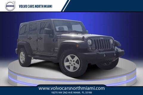 2018 Jeep Wrangler JK Unlimited for sale at Volvo Cars North Miami in Miami FL