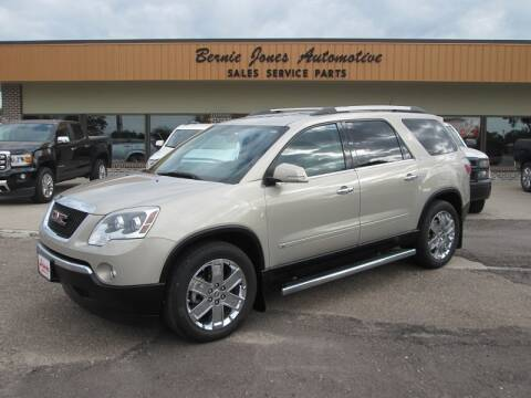 2010 GMC Acadia for sale at Bernie Jones Auto in Cambridge NE