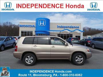 2004 Toyota Highlander for sale in Bloomsburg, PA