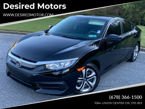 2016 Honda Civic for sale at Desired Motors in Alpharetta GA