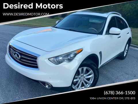 2013 Infiniti FX37 for sale at Desired Motors in Alpharetta GA