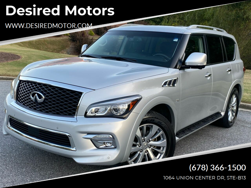 2016 Infiniti QX80 for sale at Desired Motors in Alpharetta GA