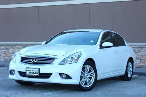 2011 Infiniti G25 Sedan for sale in Houston, TX