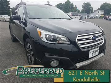 2015 Subaru Outback for sale at Preferred Auto Kendallville in Kendallville IN