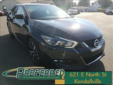 2017 Nissan Maxima for sale at Preferred Auto Kendallville in Kendallville IN