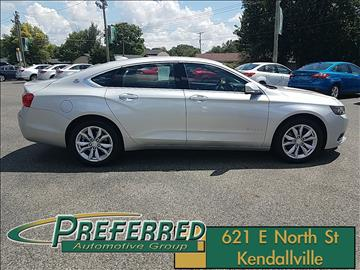2017 Chevrolet Impala for sale at Preferred Auto Kendallville in Kendallville IN