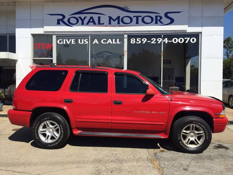 2000 dodge durango 4dr r t 4wd suv in lexington ky royal for Royal motors lexington ky
