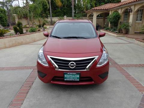 2015 Nissan Versa for sale at N c Auto Sales in Los Angeles CA