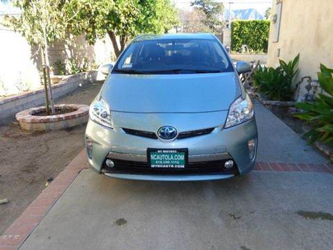 2012 Toyota Prius Plug-in Hybrid for sale at N c Auto Sales in Los Angeles CA