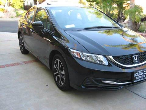 2015 Honda Civic for sale at N c Auto Sales in Los Angeles CA