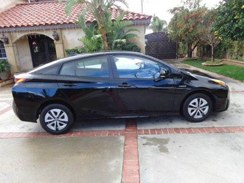 2016 Toyota Prius for sale at N c Auto Sales in Los Angeles CA
